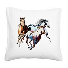 Raceday Square Canvas Pillow