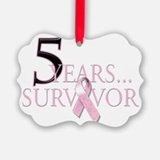 5 Years Breast Cancer Survivor Ornament