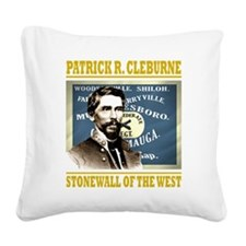 Cleburne -stonewall of the we Square Canvas Pillow