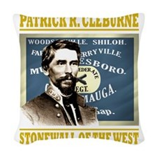 Cleburne -stonewall of the wes Woven Throw Pillow