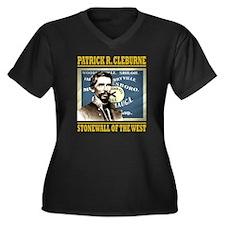 Cleburne -st Women's Plus Size Dark V-Neck T-Shirt