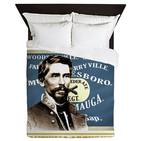 Cleburne -stonewall of the west Queen Duvet