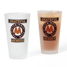 GRATEFUL MEMBER AA Drinking Glass