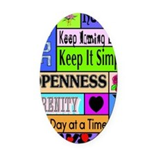 12 step sayings Oval Car Magnet