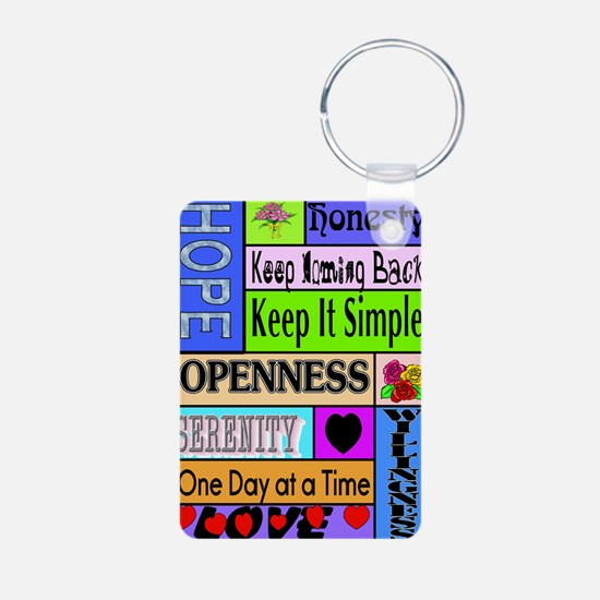 12 step sayings Keychains