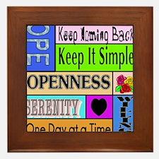 12 step sayings Framed Tile