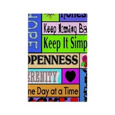 12 step sayings Rectangle Magnet