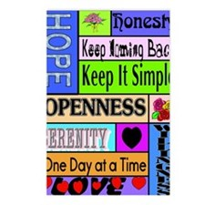 12 step sayings Postcards (Package of 8)