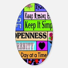 12 step sayings Sticker (Oval)