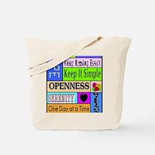 12 step sayings Tote Bag