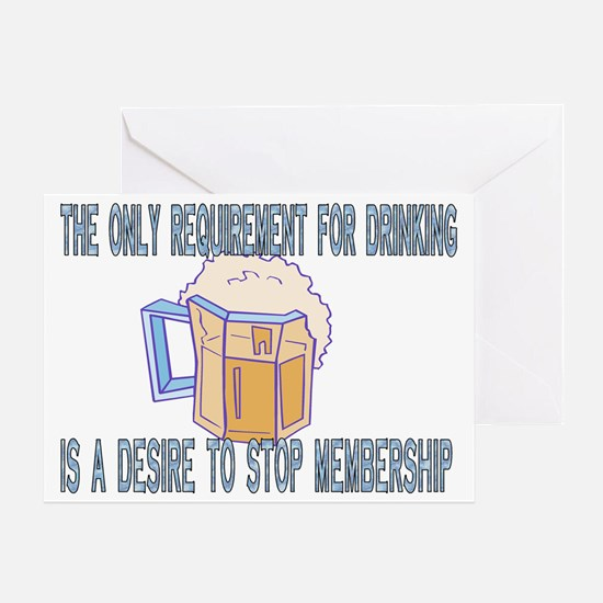 REQIUREMENT FOR DRINKING Greeting Card