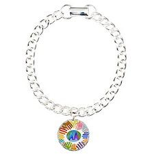 2-AA HANDS Charm Bracelet, One Charm