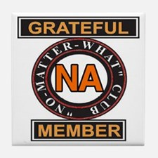 NA GRATEFUL MEMBER Tile Coaster