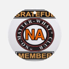 NA GRATEFUL MEMBER Round Ornament
