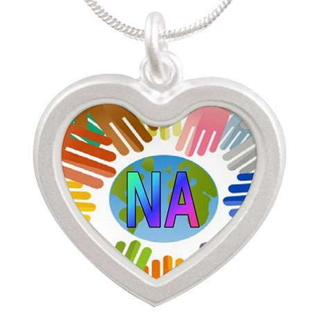 NA HANDS Silver Heart Necklace