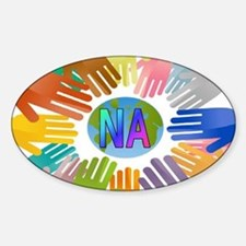 NA HANDS Sticker (Oval)