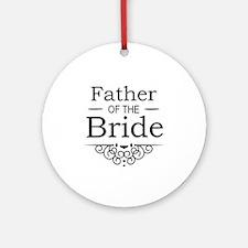 Father of the Bride black Ornament (Round)
