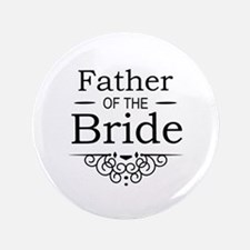 "Father of the Bride black 3.5"" Button (100 pack)"