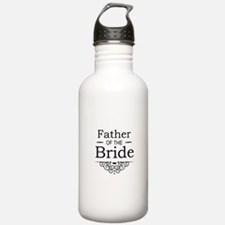 Father of the Bride black Sports Water Bottle