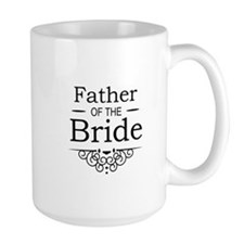 Father of the Bride black Mugs