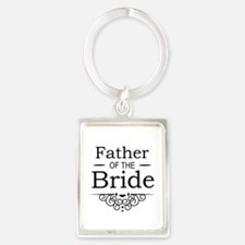 Father of the Bride black Keychains