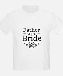 Father of the Bride black T-Shirt