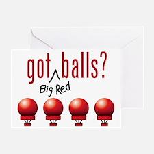 BigRedBalls_lite_crop Greeting Card