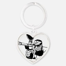 Paintball5 Heart Keychain