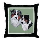 Australian Shepherd Twosome Throw Pillow