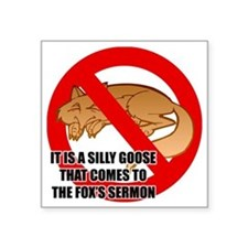 "fox-snooze-faux-news3 Square Sticker 3"" x 3"""