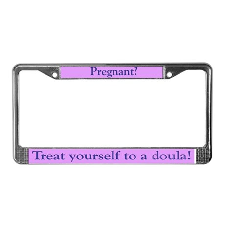 Doula License Plate Frame