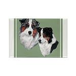 Australian Shepherd Twosome Rectangle Magnet (100