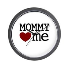 Mommy Hearts Me Wall Clock