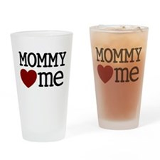 Mommy Hearts Me Drinking Glass