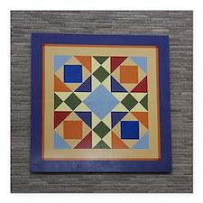 "Josephs Coat Quilt tile Square Car Magnet 3"" x 3"""
