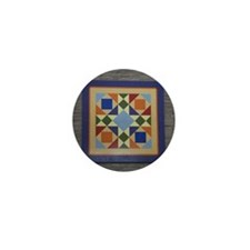 Josephs Coat Quilt tile Mini Button