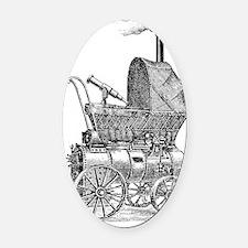 steampunkbabyplain Oval Car Magnet
