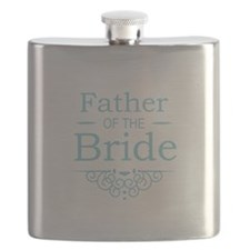 Father of the Bride blue Flask