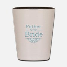 Father of the Bride blue Shot Glass