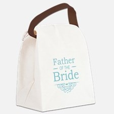 Father of the Bride blue Canvas Lunch Bag