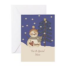 Niece Christmas Card Greeting Card