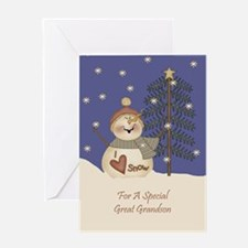 Great Grandson Christmas Card Greeting Card