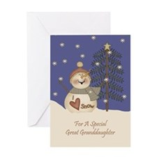 Great Granddaughter Christmas Card Greeting Card