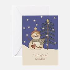 Grandson Christmas Card Greeting Card