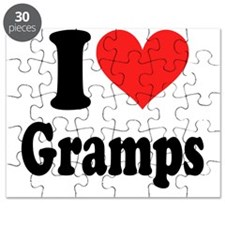i heart Gramps ( i love my t shirts ) Puzzle
