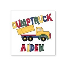 "AIDENDUMPTRUCK Square Sticker 3"" x 3"""
