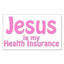Jesus is my Health Insurance Decal