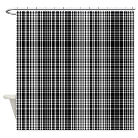 Black And White Patterned Curtains Black and White Plaid Chair Pads