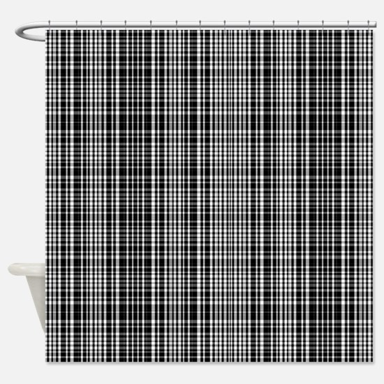 Black and White Plaid Shower Curtain