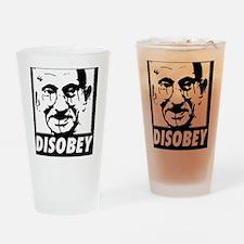 Ghandi Disobey Drinking Glass